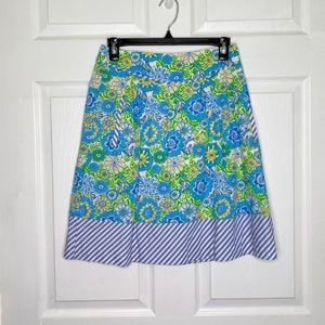 Lilly Pulitzer Women's Skirt Floral Blue Spring